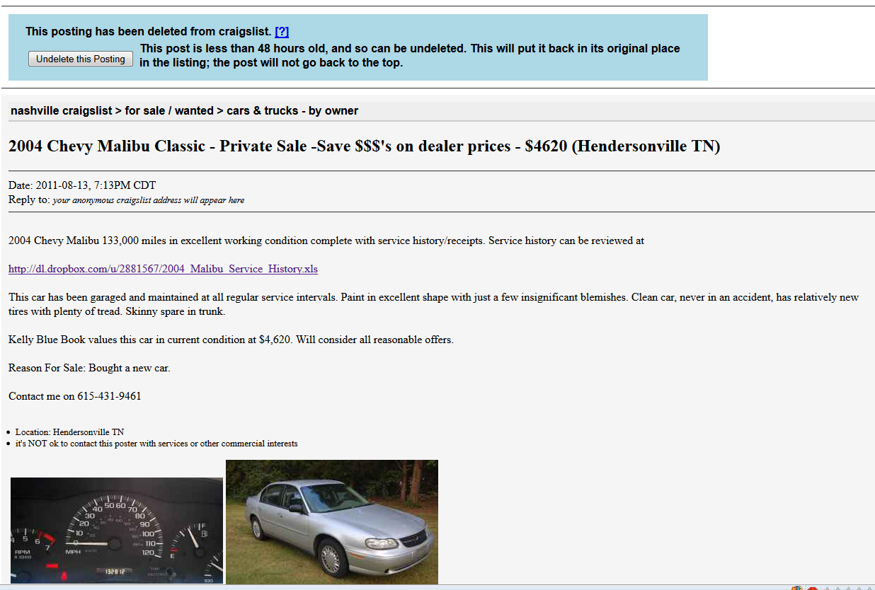 CraigsList | JPWhite\'s Tech Blog